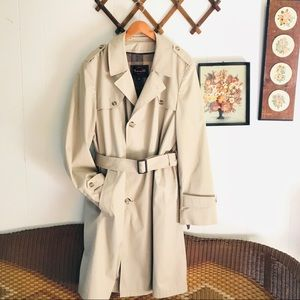 Botany 500 Vintage Wool Lined Belted Trench Coat